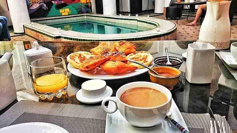 Breakfast at the trendy Riad Ka. Photo by Lori Zaino.