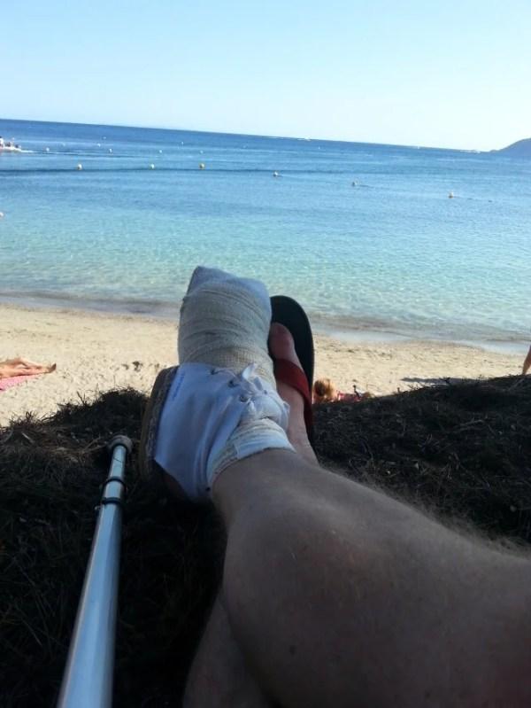 Foot and Ibiza View