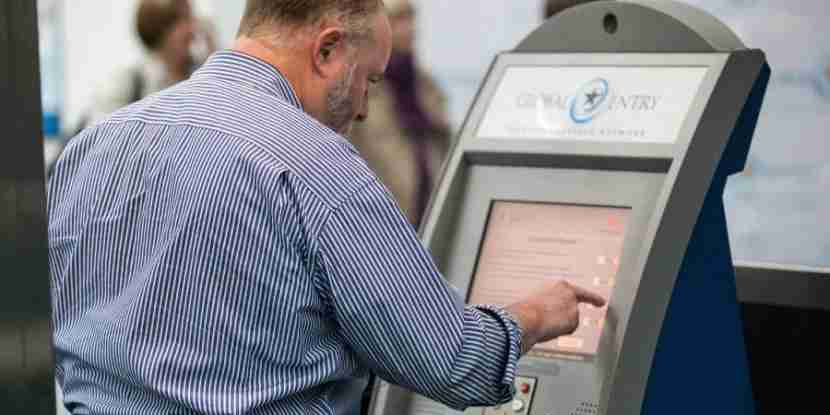 When you sign up for Global Entry, you