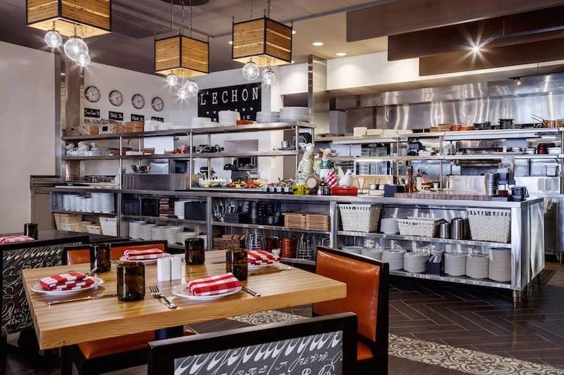 L'Echon Brasserie at the Hilton Cabana in Miami Beach is run by popular local restaurateurs.