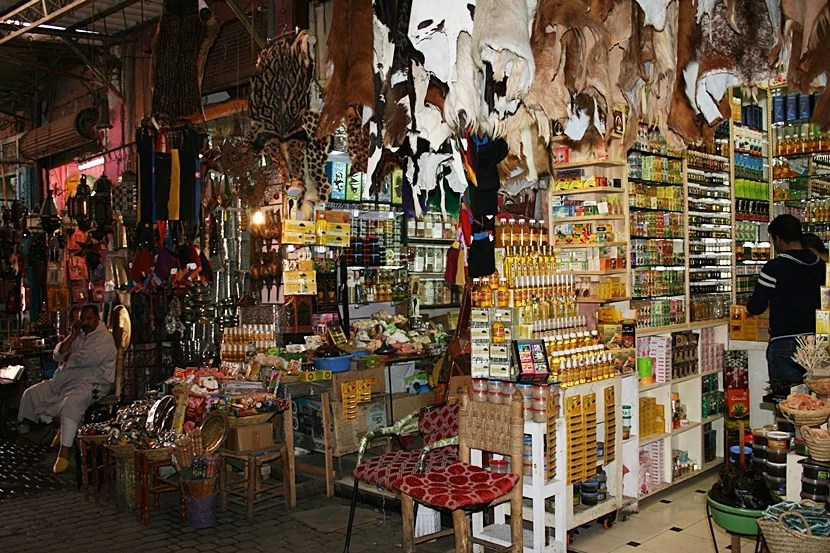 The souks can be rather intense sometimes. Photo by Lori Zaino.