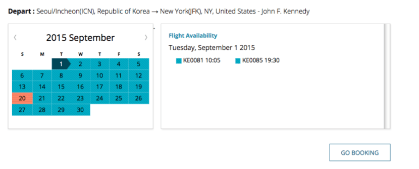 And this one continuing from ICN-JFK.