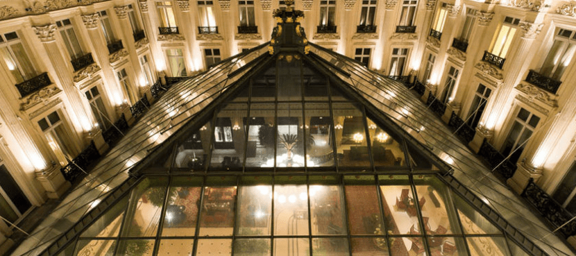 An aerial view of the stunning La Verriere Restaurant in the InterContinental Paris-Le Grand