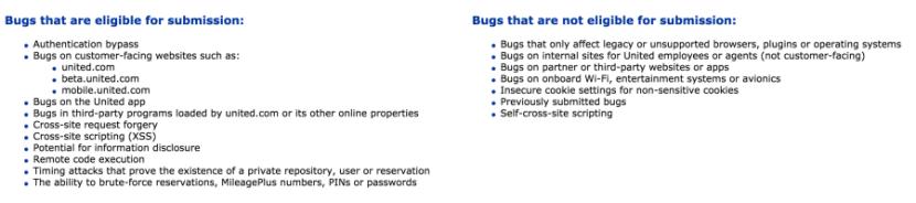 United bug bounty program