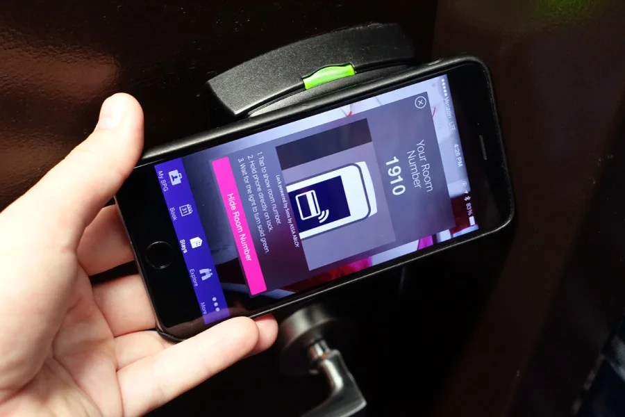 SPG Keyless allows you to open your hotel room using an iPhone and Starwood's mobile app.