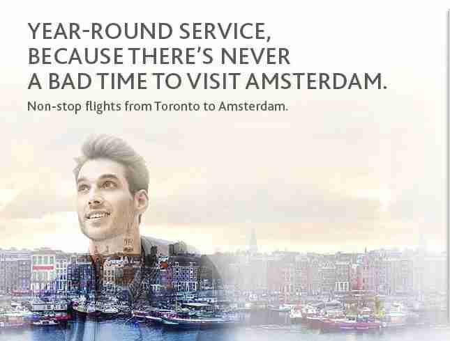 Toronto to Amsterdam on Air Canada