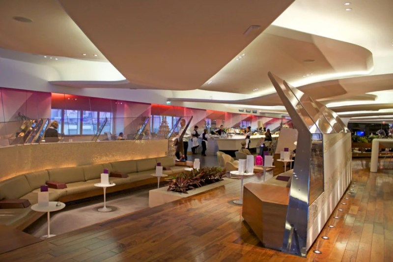 Virgin's lounges are another great selling point.