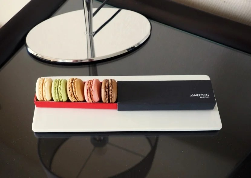 Yummy little macaron treats were waiting for me.