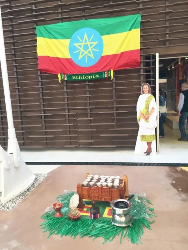 Ethiopia's modest display.