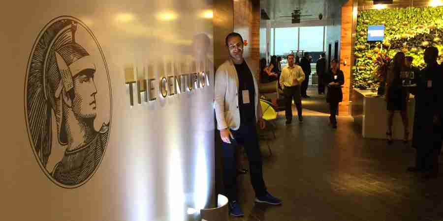 TPG at the MIA Centurion Lounge.