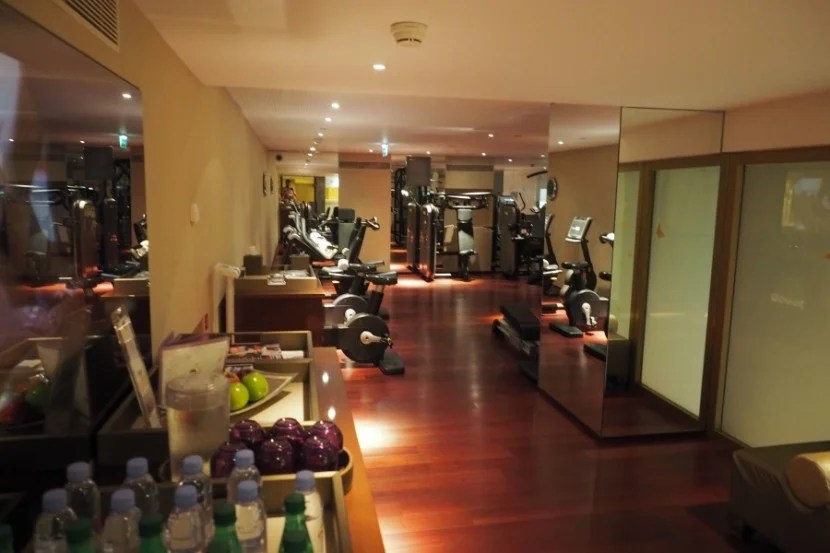 And here's the gym! Gotta work off those Eggs Benedict somehow.