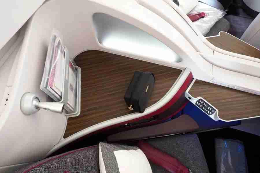 Business-class passengers receive an amenity kit on all long-haul flights.
