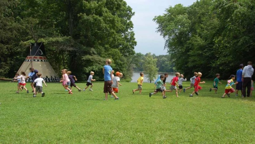 Kids play on a grassy area at Vermont's Tyler Place. Courtesy photo.