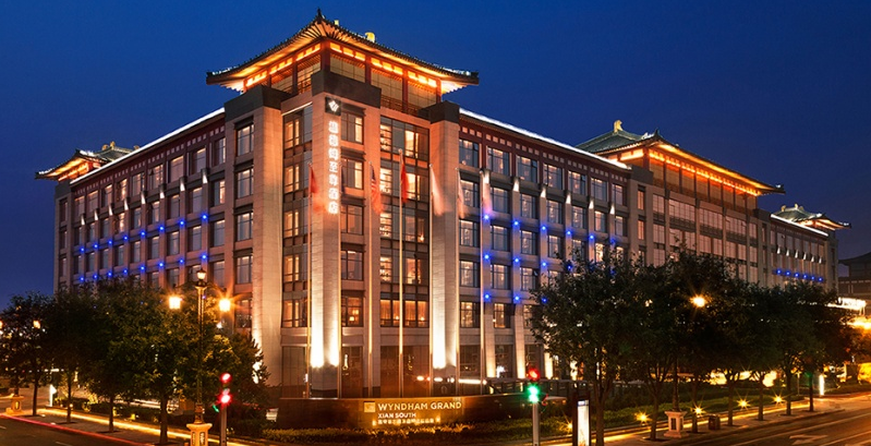 The exterior of the Wyndham Grand Xian South