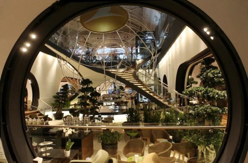 Turkish's stylish Istanbul lounge has won a lot of design awards.