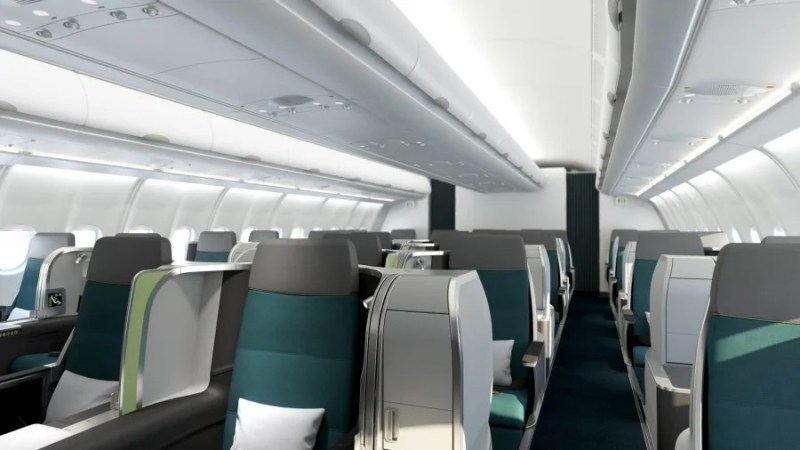Aer Lingus's new business class looks pretty great.