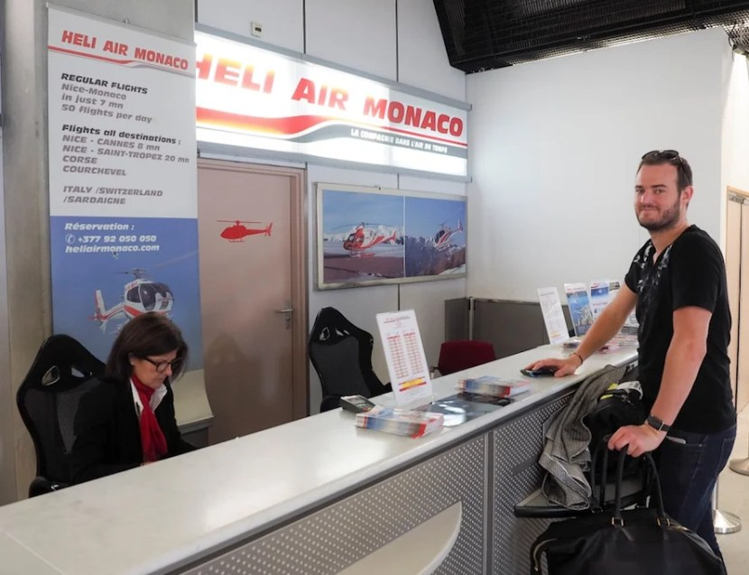 The welcome desk at Nice Airport.
