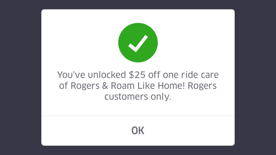 Uber $25 credit