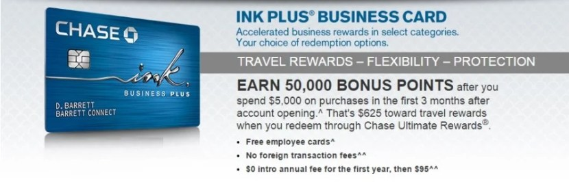 The Ink Plus is one of the best travel rewards business credit cards on the market.