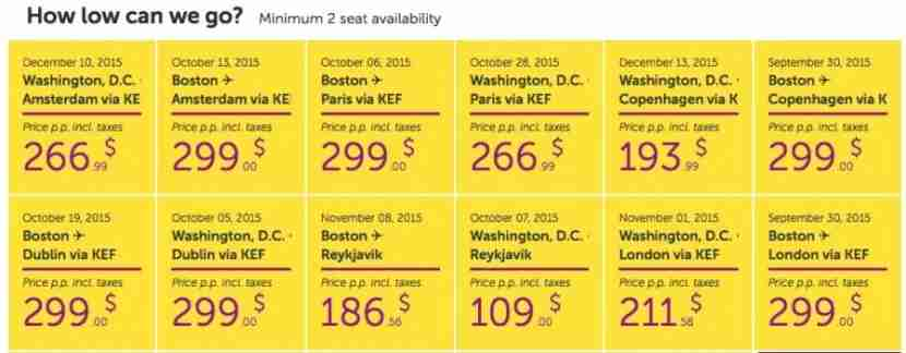 WOW Air deals for fall: not too shabby!
