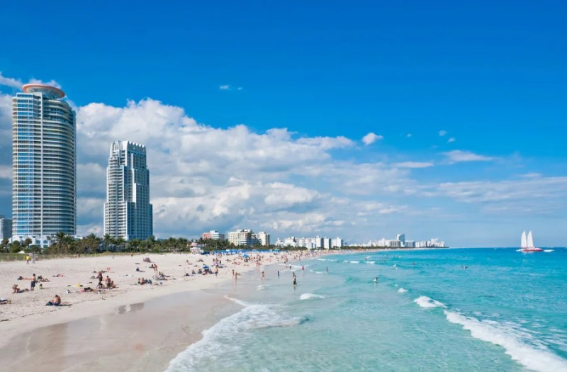 Miami's South Beach is arguably America's finest urban beach. Photo courtesy of Shutterstock.