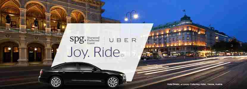 If you have SPG status and use Uber on a hotel stay, points can add up quickly.
