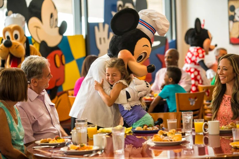 Chef MickeyÕs at DisneyÕs Contemporary Resort serves up a magical experience for Walt Disney World Resort guests. As the monorail whizzes past, Chef Mickey joins other Disney characters as they greet guests, sign autographs and periodically lead diners in song and dance. The lively, all-you-care-to-eat buffet is offered for breakfast and dinner daily. Disney's Contemporary Resort is located at Walt Disney World Resort in Lake Buena Vista, Fla. (Matt Stroshane, photographer)