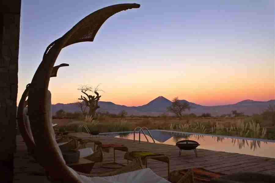 View from the pool at Tierra Atacama. Photo courtesy of the hotel.