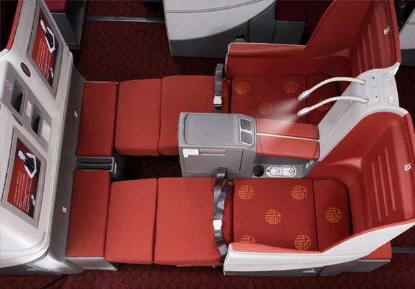 Skytrax five-star airline Hainan Airlines offers flat-bed seats on all of its long-haul flights.