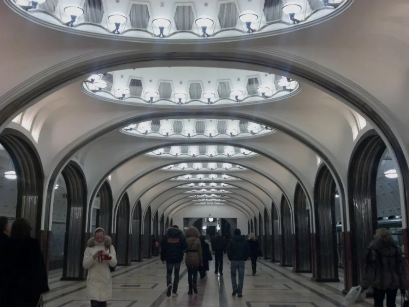 Moscow Metro. Photo by Katie Hammel.