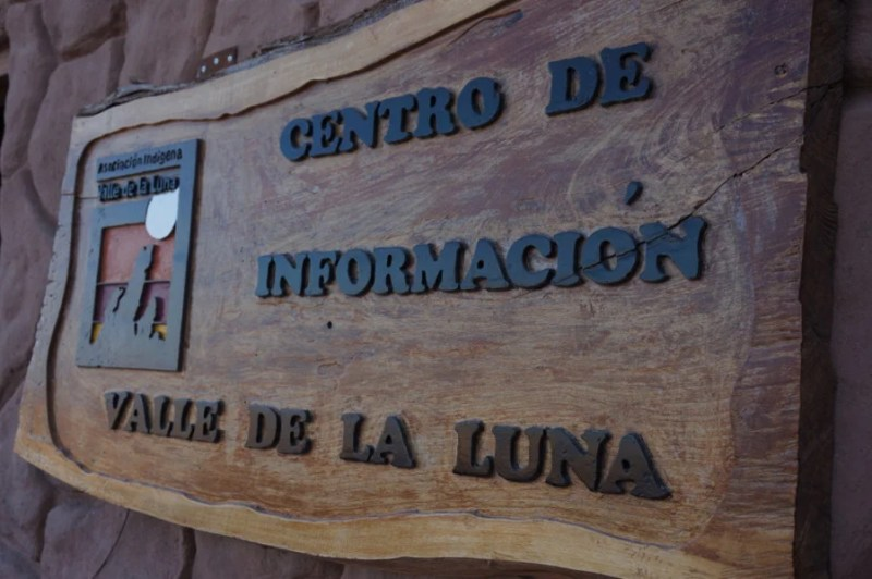 At the fascinating vistors' center in the Valle de la Luna, everything is in Spanish — bring along the Google Translate app.