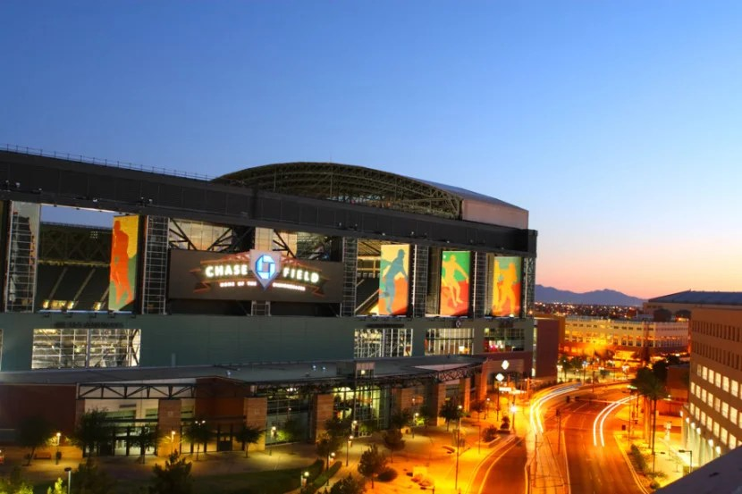 Chase Field in Phoenix, Arizona. Photo courtesy of the stadium.