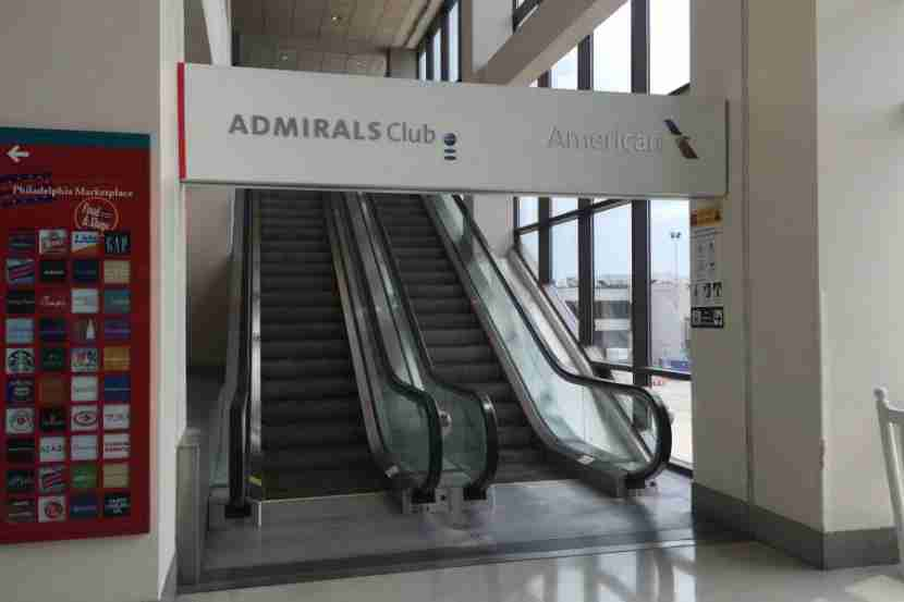 You access the terminal B/C lounge by going up a prominent set of escalators.