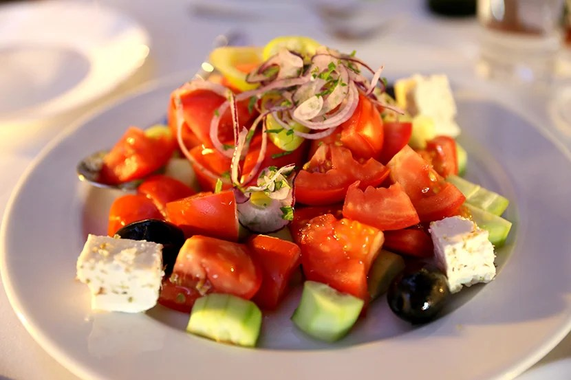 You can't go wrong with a traditional Bulgarian shopska salad