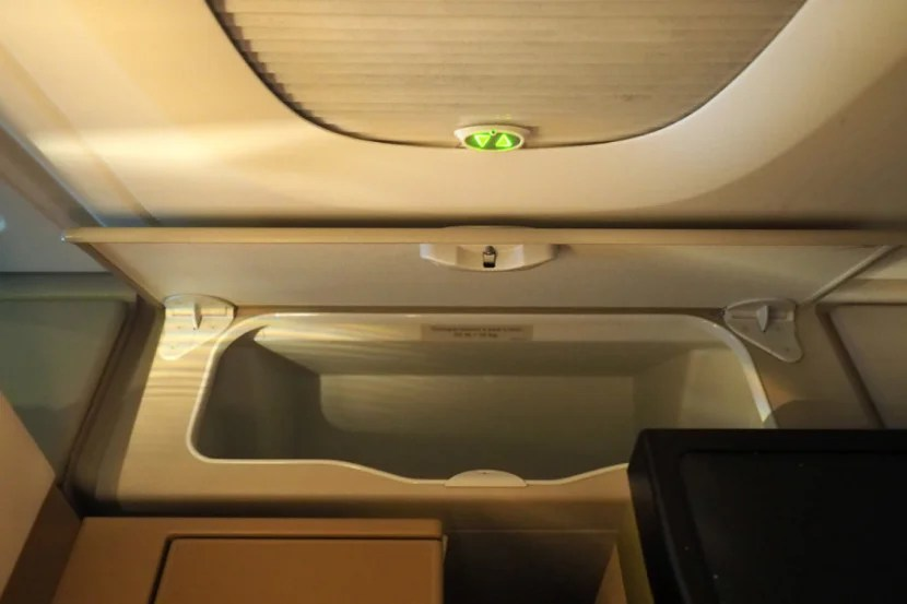 Window seats have extra storage space.