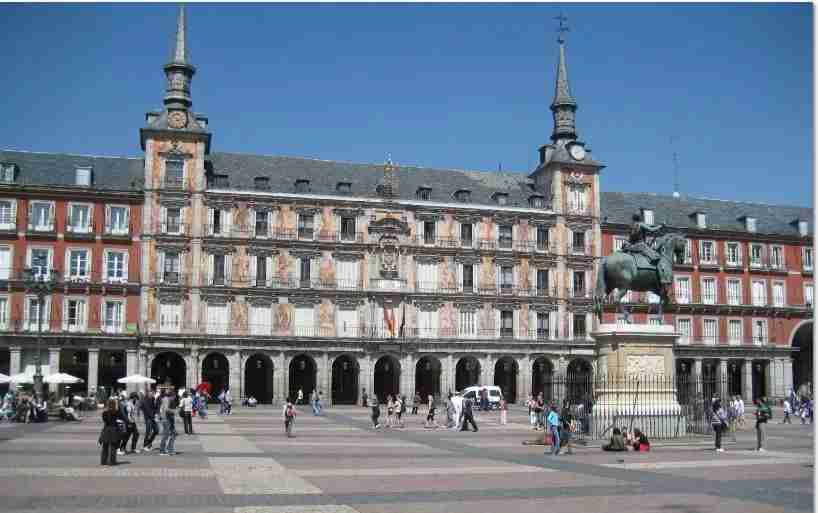 The Plaza Mayor is one of Madrid