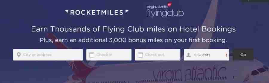 Rocketmiles offers 3,000 bonus miles for Virgin Atlantic