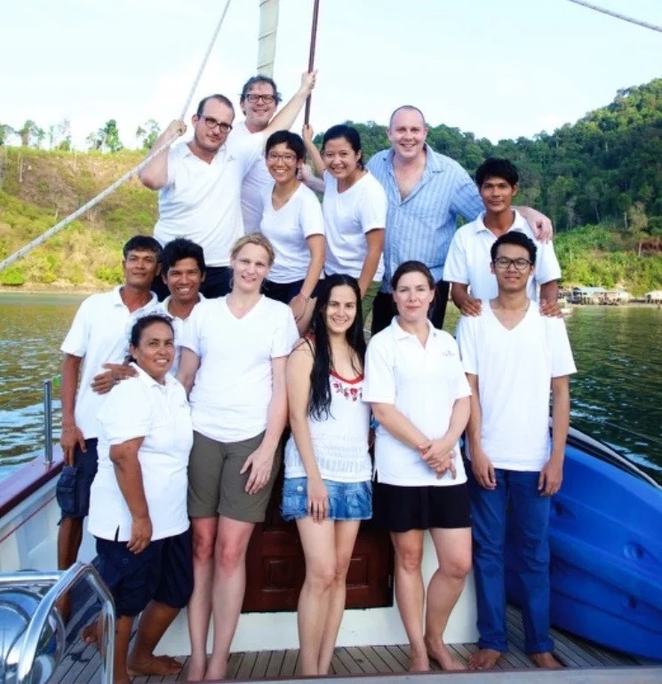 The crew of the first Sailing Clinic. Photo courtesy of Burma Boating.