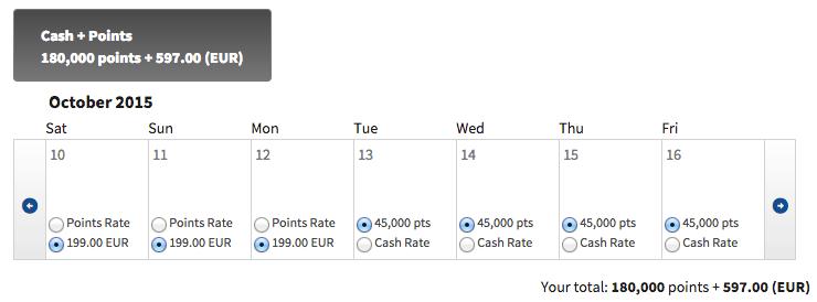 Marriott cash + points 5