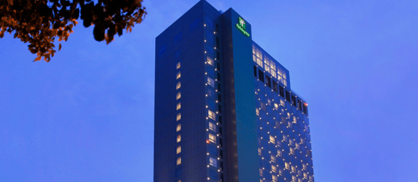 The gleaming exterior of the Holiday Inn Shanghai Pudong Kangqiao