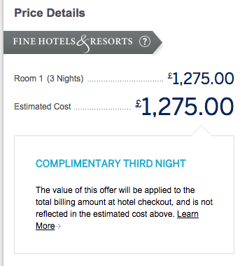 The free night discount is credited upon hotel checkout.
