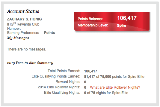 I had earned 81, elite-qualifying points without staying a single night.