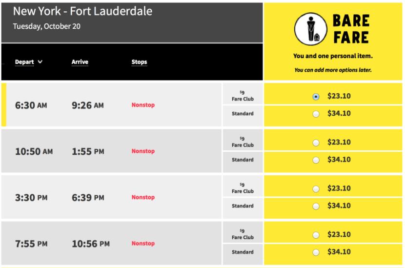 New york (LGA)- Ft. Lauderdale for $34 one-way on Spirit.