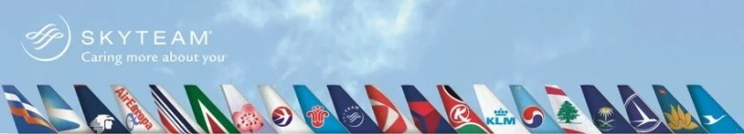 Both airlines are members of SkyTeam.