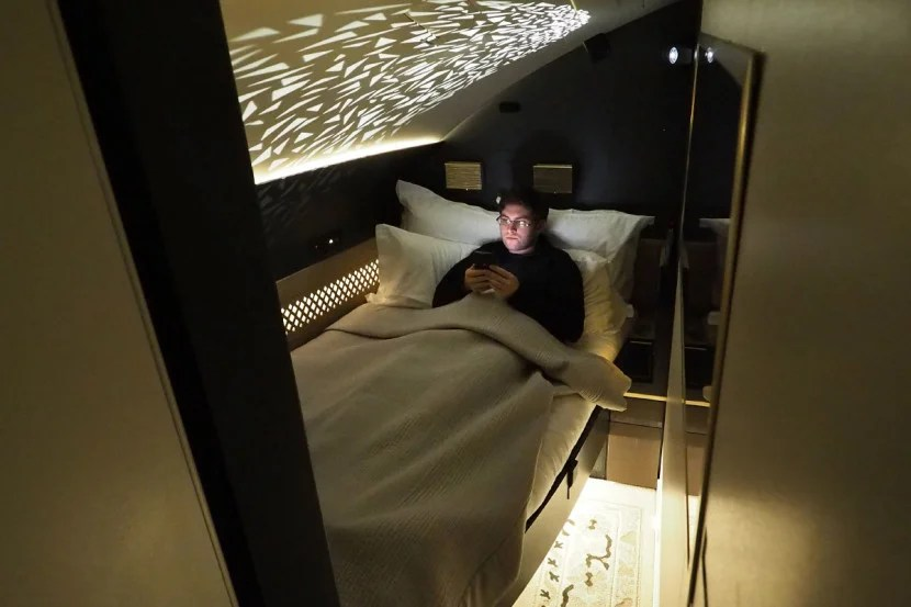 The Residence includes a real double bed.