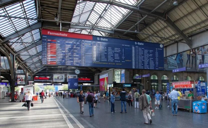 Zurich's main train station. Photo courtesy of Shutterstock