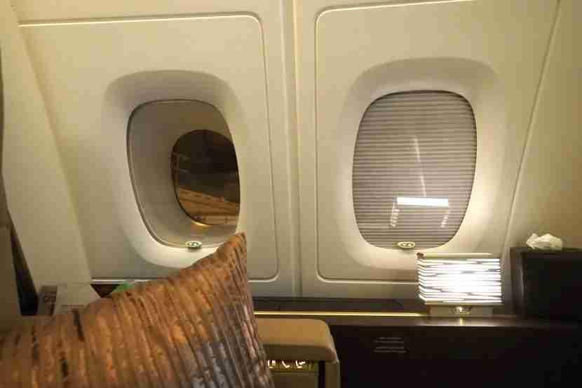 Etihad A380 The Residence - Window Shades