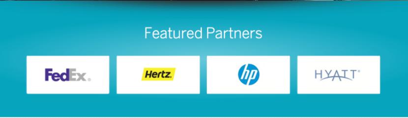 Partners include, Hertz, Hyatt and FedEx.