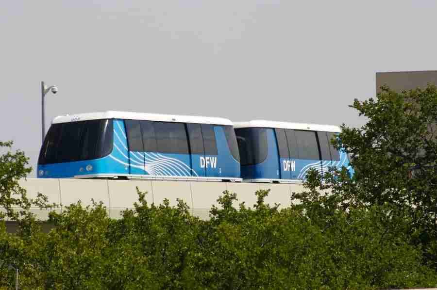 The Skylink train at DFW connects passengers between all terminals in five minutes or less. Photo courtesy of Dallas/Fort Worth International Airport.