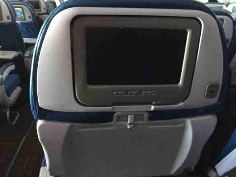 Hawaiian Airlines seat back entertainment screen